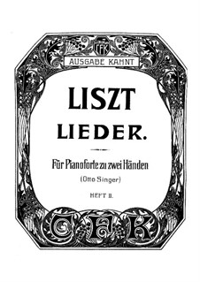 Collection Songs: Book II, for piano by Franz Liszt