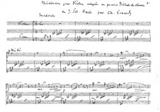 Meditation on Prelude No.1 by Bach: For violin and piano by Charles Gounod