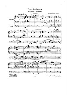 Fantaisia-Sonata for Organ No.2, Op.65: Fantaisia-Sonata for Organ No.2 by Josef Gabriel Rheinberger