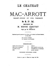 Le château de Mac-Arrott: Arrangement for piano by Henri Cieutat