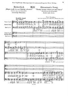 Drei Männerchöre, Op.12: No.2 Horseman's Song by Peter Cornelius