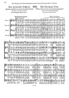 Drei Männerchöre, Op.12: No.3 The German Vow by Peter Cornelius