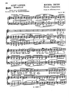 Eight Songs on Russian and German Poems, Op.61: Complete set by Nikolai Medtner