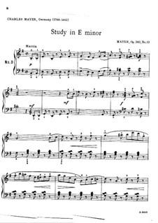 25 Kleinen Etüden, Op.340: Etüde Nr.13 by Charles Mayer