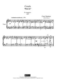 Choral in f major for organ, Natus est, CS115 No.2: Choral in f major for organ, Natus est by Santino Cara