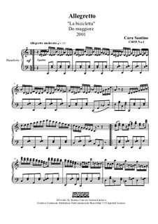 Allegretto in c major for piano, 'By bicycle', CS055 No.1: Allegretto in c major for piano, 'By bicycle' by Santino Cara