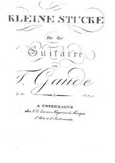 Little Pieces for Guitar, Op.30: Little Pieces for Guitar by Theodor Gaude