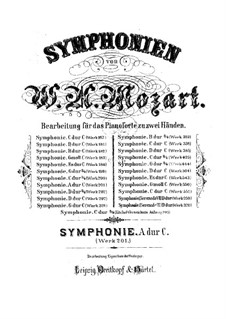 Symphony No.29 in A Major, K.201: Piano score by Wolfgang Amadeus Mozart