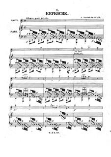Six morceaux pour flûte et piano, Op.19:  No.1 Reproche by Adolf Terschak