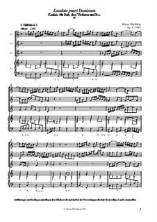 Laudate pueri Dominum, Op.4: Full score by Klaus Miehling