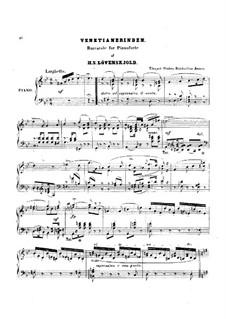 Barcarole: Barcarole by Herman Severin Lovenskjold
