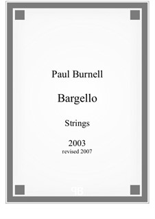 Bargello, for strings: Full score by Paul Burnell