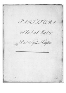 Stabat Mater, Hob.XXa/1: No.1 Stabat Mater dolorosa by Joseph Haydn