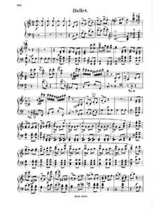 Knight Pazman, Op.441: Ballet, for piano by Johann Strauss (Sohn)