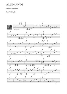 Allemande for Lute, BuxWV 241: Allemande for Lute by Dietrich Buxtehude