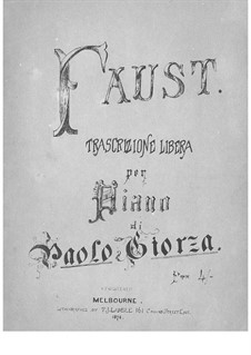 Transcription on Theme from 'Faust' by Gounod: Transcription on Theme from 'Faust' by Gounod by Paolo Giorza