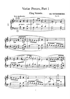 Variae Preces, Op.21: Variae Preces by Charles Tournemire