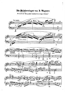 Walter's Prize Song: For piano by Richard Wagner