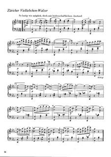 Züricher Vielliebchen-Walzer, WWV 88: Züricher Vielliebchen-Walzer by Richard Wagner