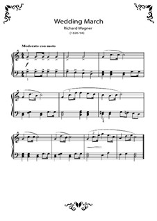 Bridal Chorus, for Piano: For a single performer by Richard Wagner