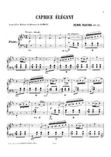 Caprice élégant, Op.93: Caprice élégant by Jean-Henri Ravina