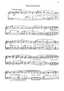 Two Pieces for Piano: Two Pieces for Piano by Hugo Wolf