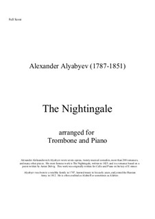 The Nightingale: For trombone and piano by Alexander Alyabyev