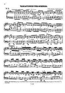 Four Pieces for String Quartet, Op.81: No.1-2. Version for piano by Felix Mendelssohn-Bartholdy