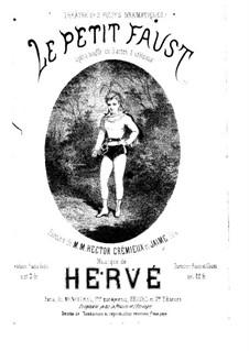 Le petit Faust: For piano by Florimond Hervé