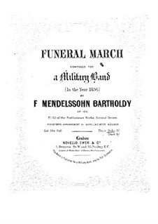 Funeral March, Op.103: For piano by Felix Mendelssohn-Bartholdy