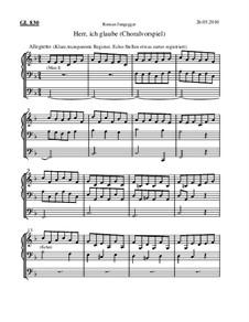Herr, ich glaube (Choralvorspiel): Herr, ich glaube (Choralvorspiel) by Roman Jungegger