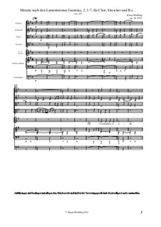 Motette nach den Lamentationes Ieremiae 2:1-7, Op.20: Motette nach den Lamentationes Ieremiae 2:1-7 by Klaus Miehling