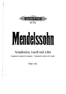 Symphony No.3 in A Minor 'Scottish', Op.56: Version for piano by Felix Mendelssohn-Bartholdy