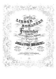Twelve Songs and Romances, Op.44: Complete set by Johannes Brahms