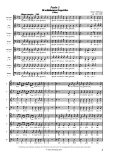 Psalm 2, Op.142: Psalm 2 by Klaus Miehling