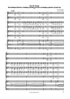 Der 90. Psalm, Op.107: Der 90. Psalm by Klaus Miehling