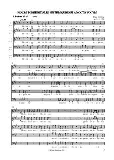 Psalmi, Op.61/1-7: I-III Psalmi by Klaus Miehling