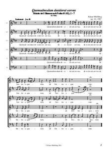Quemadmodum desiderat cervus, Op.22: Quemadmodum desiderat cervus by Klaus Miehling