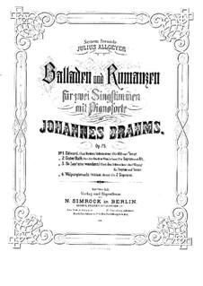 Four Ballades and Romances, Op.75: Complete set by Johannes Brahms