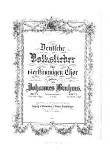 German Folk Songs, WoO 34: Complete set by Johannes Brahms