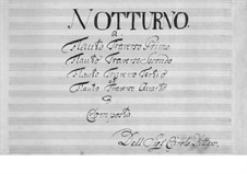 Nocturne: For four flutes by Carl Ditters von Dittersdorf