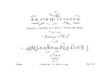 Quintet for Piano, Clarinet (or Violin), Two Violas and Cello, Op.41: Quintet for Piano, Clarinet (or Violin), Two Violas and Cello by Anton Eberl
