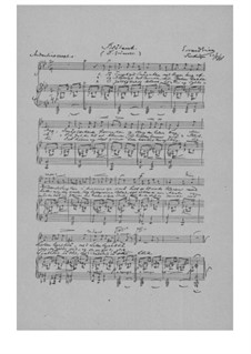 Blåbæret (The Blueberry), EG 145: Piano-vocal score by Edvard Grieg