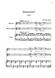 Dansons. Duo for Two Voices and Piano, Op.35: Dansons. Duo for Two Voices and Piano by Édouard Lalo