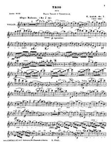 Piano Trio No.1, Op.7: Piano Trio No.1 by Édouard Lalo