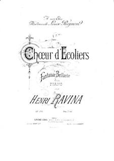 Choeur d'Ecoliers, Op.103: Choeur d'Ecoliers by Jean-Henri Ravina