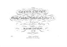 Six Songs for Voice and Guitar (or Piano), Op.89: Six Songs for Voice and Guitar (or Piano) by Mauro Giuliani