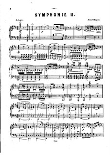 Symphony No.93 in D Major, Hob.I/93: Version for piano by Joseph Haydn