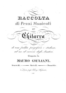 Pieces for Guitar, Op.111: Book II by Mauro Giuliani