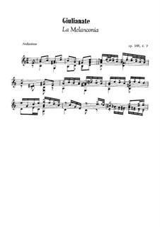 Giulianate for Guitar, Op.148: No.7 La melanconia by Mauro Giuliani